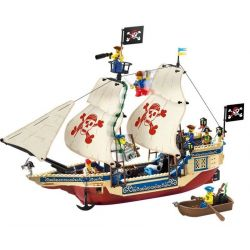 Enlighten 311 (NOT Lego Pirates of the Caribbean Imperial Flagship ) Xếp hình Tàu Vua Cướp Biển 487 khối