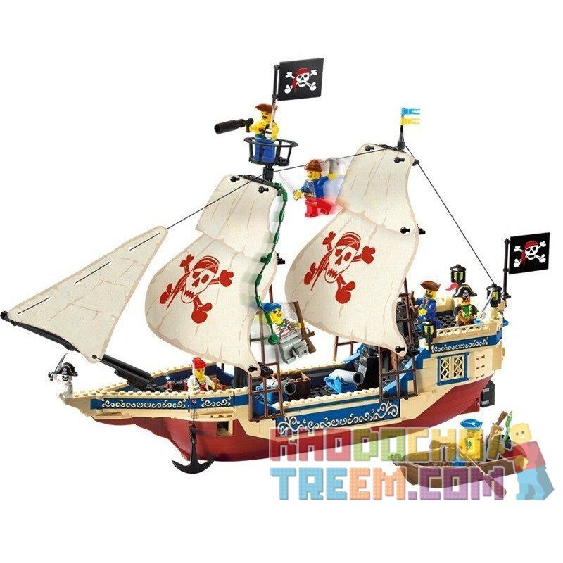 Enlighten Qman 311 Xếp hình kiểu LEGO Pirates of the Caribbean Corsair:King of The Seas Tàu Vua Cướp Biển 487 khối