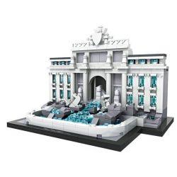 Loz 1015 Mini Blocks Architecture Fontana Di Trevi Xếp hình Đài Phun Nước Trevi 677 khối