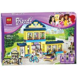 Bela 10166 Lari 10166 Xếp hình kiểu Lego FRIENDS Heartlake High Heart Lake Highlands Trường Trung Học Hồ Trái Tim 487 khối