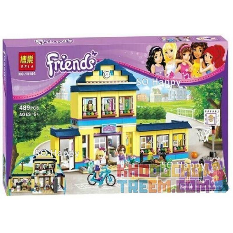 Bela 10166 (NOT Lego Friends 41005 Heartlake High ) Xếp hình Trường Trung Học Hồ Trái Tim 489 khối
