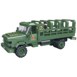Woma C0713 (NOT Lego Military Army Millitary Truck ) Xếp hình Xe Tải Chở Lính 325 khối