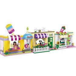 XINGBAO XB-12008 12008 XB12008 Xếp hình kiểu Lego CITY GIRL CityGirl Happy Time Street Campus Girl Campus Commercial Street Khuôn Viên Thương Mại Của Các Cô Gái Vui Nhộn 597 khối