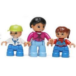 HYSTOYS HONGYUANSHENG AOLEDUOTOYS  HG-1444 1444 HG1444 Xếp hình kiểu Lego Duplo DUPLO Playground Set With Storage khu vui chơi thiên đường 52 khối