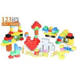 HYSTOYS HONGYUANSHENG AOLEDUOTOYS  HG-1660B 1660B HG1660B Xếp hình kiểu Lego Duplo DUPLO Creative Bucket Thiên đường Học Tập 123 khối