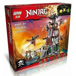 Bela 10528 Lari 10528 LELE 79346 LEPIN 06037 SHENG YUAN SY 597 SY597 Xếp hình kiểu THE LEGO NINJAGO MOVIE The Lighthouse Siege Ninja Lighthouse Defense Bảo Vệ Pháo đài Hải đăng 767 khối