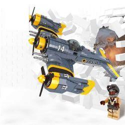 Lepin 22021 (NOT Lego Military Army Fighter Plane ) Xếp hình Máy Bay Chiến Đấu Cánh Quạt 572 khối