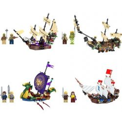 Kazi KY87025 (NOT Lego The Chronicles of Narnia The Voyage Of The Dawn Treader ) Xếp hình Hành Trình Trên Con Tàu Dawn Treader Của Lucy Và Edmund 745 khối