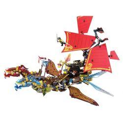 SHENG YUAN SY 893 SY893 Xếp hình kiểu Lego THE LEGO NINJAGO MOVIE Dragon Boat Thuyền rồng bay gồm 2 hộp nhỏ 849 khối