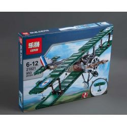 Lepin 21021 (NOT Lego Creator Expert 10226 Sopwith Camel ) Xếp hình Máy Bay Tiêm Kích 953 khối