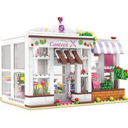 Xingbao XB-12007 (NOT Lego City Girl The University Dormitory Canteen ) Xếp hình Căng Tin Của Ký Túc Xá 673 khối