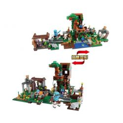 LELE 33044 Xếp hình kiểu Lego MINECRAFT Mocar Villa 2 In 1 Biệt thự Mocar 900 khối