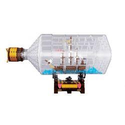 Lepin 16045 (NOT Lego Pirates of the Caribbean The Ship In The Bottle ) Xếp hình Con Tàu Bị Giam Trong Chai 775 khối