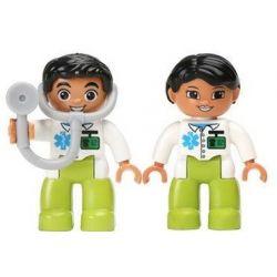 NOT Lego Duplo DUPLO 5695 Doctor's Clinic, HYSTOYS HONGYUANSHENG AOLEDUOTOYS  HG-1272 1272 HG1272 Xếp hình phòng khám bác sỹ 60 khối