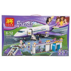 Lele 79175 (NOT Lego Friends 41109 Heartlake City Airport ) Xếp hình Sân Bay Thành Phố Heartlake 701 khối