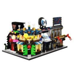 SEMBO SD6528 6528 SD6529 6529 SD6530 6530 SD6531 6531 Xếp hình kiểu Lego MINI MODULAR BMW, Cocktail Bar, Magic, Stock Exchange Bộ 4 Cửa Hàng ô Tô, đồ Uống, Ảo Thuật, Giao Dịch Chứng Khoán gồm