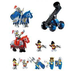 Enlighten Qman 1021 Xếp hình kiểu LEGO Castle Castle Knights Tấn Công Lâu đài đại Bàng 568 khối