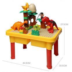 NOT LEGO Duplo 5597 Dino Trap, Hystoys HongYuanSheng Aoleduotoys HG-1486 Xếp hình bẫy khủng long bạo chúa loại có bàn 36 khối