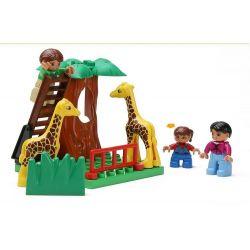 NOT Lego Duplo DUPLO 5635 Big City Zoo, HYSTOYS HONGYUANSHENG AOLEDUOTOYS  GM-5013A 5013A GM5013A HG-1275 1275 HG1275 Xếp hình Sở Thú 125 khối