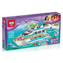 Bela 10172 Lari 10172 LELE 79163 LEPIN 01044 Xếp hình kiểu Lego FRIENDS Dolphin Cruiser Dolphin Yacht Du Thuyền Cá Heo 612 khối