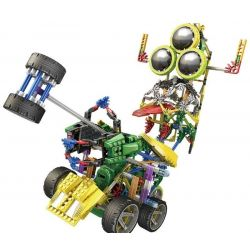 Loz 3029 (NOT Lego OX- Eyed Robots Electric Heavy Hammer Tank Robot ) Xếp hình Rô Bốt Động Cơ Pin Kết Hợp Loz-3025 Và Loz-3026 622 khối
