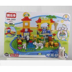Aoleduotoys GM-5021 (NOT Lego Duplo Diverse Zoo ) Xếp hình Sở Thú Muôn Loài 105 khối
