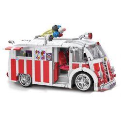 Xingbao XB-08004 (NOT Lego Creator Ice Cream Car ) Xếp hình Xe Bán Kem Lưu Động 1000 khối