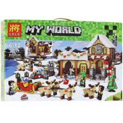 LELE 33024 Xếp hình kiểu Lego CREATOR EXPERT Santa's Workshop Santa DreamWork Xưởng đồ Chơi Của ông Già Noen 883 khối