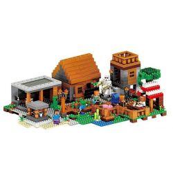 Lepin 18010 Lele 79288 Lezi 93095 (NOT Lego Minecraft Minecraft:the Village ) Xếp hình Ngôi Làng 1106 khối