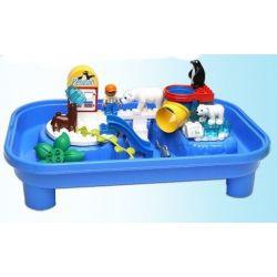 HYSTOYS HONGYUANSHENG AOLEDUOTOYS  HG-1475 1475 HG1475 Xếp hình kiểu Lego Duplo DUPLO Polar Zoo Vườn Thú Bắc Cực Lớn Có Bàn 40 khối