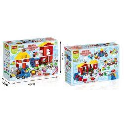 NOT LEGO Duplo 5649 Big Farm, HuiMei Star City Xing Dou Cheng HM062 Xếp hình Nông Trại Lớn 115 khối