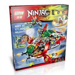 Bela 10398 Lari 10398 LELE 79122 LEPIN 06017 Xếp hình kiểu THE LEGO NINJAGO MOVIE Ronin R.E.X. Flying Rotation Super Fighter Phi Thuyền Ronin R.E.X. 547 khối