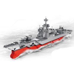 PanlosBrick 632006 Panlos Brick 632006 Xếp hình kiểu Lego MILITARY ARMY 055 Missile Destroyer Tàu Quân Sự Thiết Giáp Khu Trục Tên Lửa 1046 khối