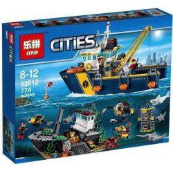 LEPIN 02012 Xếp hình kiểu Lego CITY Deep Sea Exploration Vessel Deep Sea Adventure Exploration Boat Tàu Thăm Dò Biển Sâu 717 khối