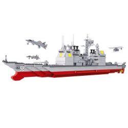 Sluban M38-B0389 (NOT Lego Military Army Cruiser ) Xếp hình Tàu Chiến 883 khối