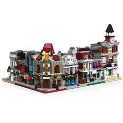 Decool 1114 1115 1116 1117 1118 1119 Jisi 1114 1115 1116 1117 1118 1119 Xếp hình kiểu Lego MINI MODULAR Brick Bank Detective's Office Palace Cinema Parisian Restaurant Pet Shop Town Hall Mini Street S