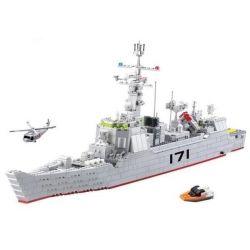 Kazi KY84029 84029 Xếp hình kiểu Lego FIELD ARMY Field Army Antiaircraft Missile Destroyer Field Troops 171 Air Defense Missile Destroyer Tàu Khu Trục Chuyên Trị Tàu Sân Bay 897 khối