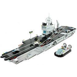 Enlighten 113 Qman 113 Xếp hình kiểu Lego MILITARY ARMY CombatZones Aircraft Carrier Tàu Sân Bay 990 khối