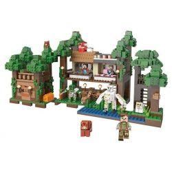 XINGBAO XB-09003 09003 XB09003 Xếp hình kiểu Lego MINECRAFT Block World Mysteries Of Base Square Life Mysterious Base Khu Chợ Trên Cây 1114 khối