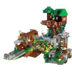 LEPIN 18031 Xếp hình kiểu Lego MINECRAFT CUBEWORLD My World Barrel Tree House, War Horse Quảng Trường Nhà Cây 1075 khối