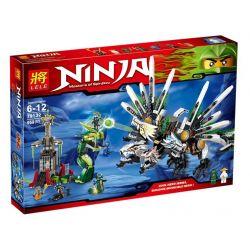 Bela 9789 Lari 9789 LELE 79132 Xếp hình kiểu THE LEGO NINJAGO MOVIE Epic Dragon Battle Dragon Ship History Poetry Cuộc Chiến Của Chú Rồng Huyền Thoại 915 khối