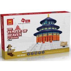 WANGE DR.LUCK 5222 8020 Xếp hình kiểu Lego MINI MODULAR The Temple Of Heaven Of Beijing Beijing Tiantan Thiên đàn Thờ Trời 758 khối
