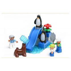 NOT LEGO Duplo 6157 The Big Zoo, Hystoys HongYuanSheng Aoleduotoys GM-5026 HG-1396 Xếp hình Vườn Bách Thú Lớn 147 khối