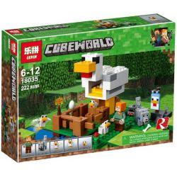 Lepin 18035 Sheng Yuan 982 SY982 Bela 10809 Decool 836 (NOT Lego Minecraft 21140 The Chicken Coop ) Xếp hình Chuồng Gà 222 khối