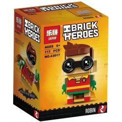 Decool 6820 Lepin 43017 Bela 10764 (NOT Lego BrickHeadz 41587 Robin ) Xếp hình Siêu Anh Hùng Robin 113 khối