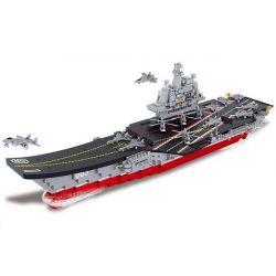 Sluban M38-B0399 (NOT Lego Military Army Aircraft Carrier ) Xếp hình Tàu Sân Bay Tỉ Lệ 1:450 1059 khối