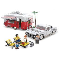 REBRICKABLE MOC-22102 22102 MOC22102 XINGBAO XB-08003 08003 XB08003 Xếp hình kiểu Lego CREATOR Camper RV Ô Tô Cắm Trại 2436 khối