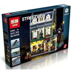 BLANK 20002 KING 84010 LEJI LJ99005 99005 LELE 30007 LEPIN 15010 15010B LION KING 180066 Xếp hình kiểu Lego CREATOR EXPERT Parisian Restaurant Paris Restaurant Nhà Hàng ở Pari Có đèn 2469 khối