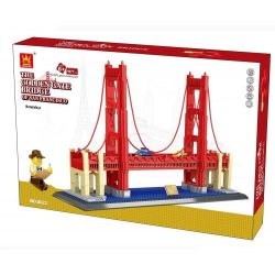 Wange 8023 6210 (NOT Lego Architecture The Golden Gate Bridge Of San Francisco ) Xếp hình Cầu Cổng Vàng gồm 2 hộp nhỏ 1977 khối