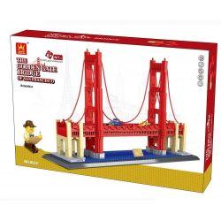 WANGE 6210 8023 Xếp hình kiểu Lego CREATOR GOLDEN BRIDG OF UNITED STATES San Francisco Golden Gate Bridge Cầu Cổng Vàng 1977 khối